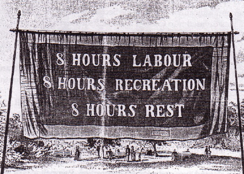 original 1856 Melbourne Eight Hour Day banner