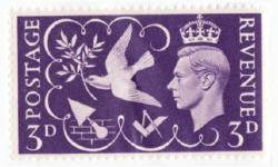 stamp with dove bearing an olive branch