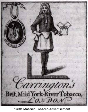 apron circa 1760 on tobacco label