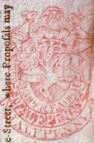 Tax Stamp from the reign of Queen Anne